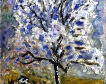 """L'Amandier en fleurs """"Almond Tree Blossom"""" Painting by Pierre Bonnard Art Reproduction"""
