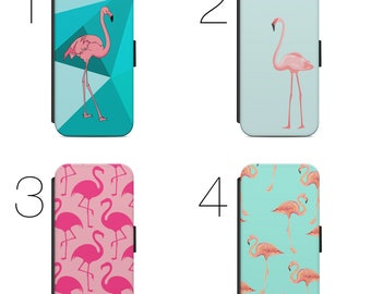 Flamingo Collage Pattern Flip Case Cover For Mobile Phone iPhone and Samsung