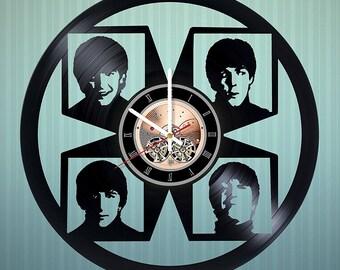 The Beatles Vinyl Record Wall Clock gift idea wall art decor