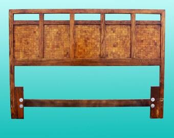 Mid-Century Patchwork Headboard