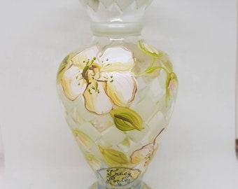 Vintage hand painted vase by Tracy Porter