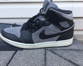 2012 Air Jordan 1 Phat (Black/Grey/White) Sz. 12
