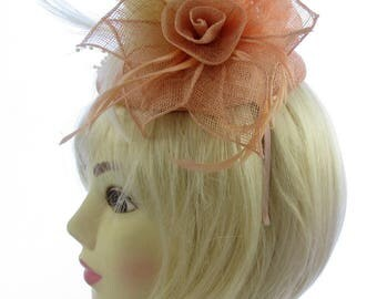 Peaches and cream fascinator/hatinator hat for special events