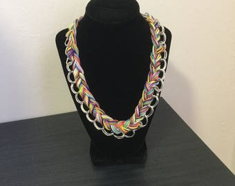 Braided Multi-colored reversible Necklace