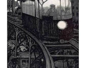 Poster - Tram - Berlin 1920 - fine art gallery
