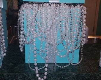 Large Pearl Draped Tiffany & Co inspired Center Piece