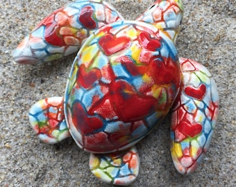 Kaleidoscope Sea Turtle Magnet