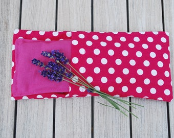 Eye pillow for yoga and meditation with lavender and flaxseed, yoga eye pillow, lavender eye pillow, eye mask, aromatherapy eye pillow