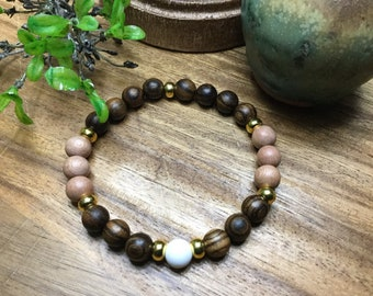 Wood Essential Oil Stretch Bracelet