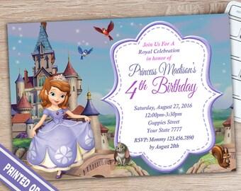 Invitación del cumpleaños de Sofía de invitación - Sofía invitación - Princesa Sofia