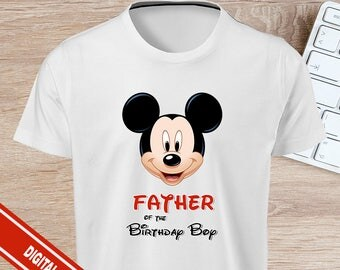 Father of The Birthday Boy - Mickey Mouse Iron On - INSTANT DOWNLOAD