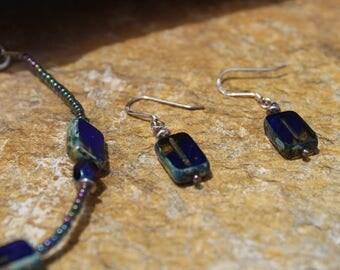 Blue Lagoon Bracelet w/ Earrings