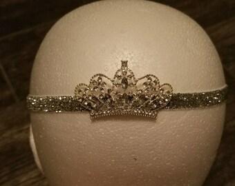 Silver tiara headband