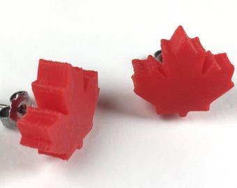 Eh-Rings! - Canada Maple Leaf 3D Printed Stud Earrings