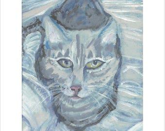 Naughty Cat print