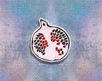 Pomegranate Pin   Red Pomegranate Pin   Enamel Pin   Fruit Enamel Pin   Pomegranate Brooch   Fruit Lapel Pin   Tiny Metal Brooch   Gift Her