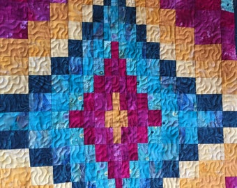 Bargello table runner/Handmade/Quilted