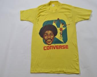 Julius Erving Vintage t-shirt Dr. J Converse Philadelphia 76ers Sixers Small