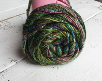 Pittura 604 Kahlo, rainbow, green purple blue,  Louisa Harding yarn, Merino wool, Bamboo and viscose