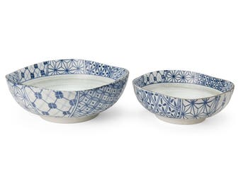 Set of 2 Bowl patchwork