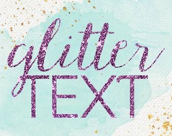 Glitter add on// Add on// Just add glitter// Glitter text