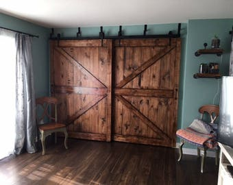Custom Rustic X barn doors