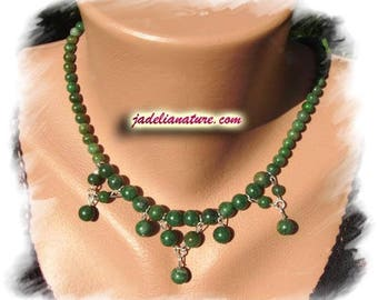 Jade and Sterling Silver 925 necklace