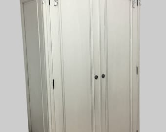 Traditional French Rococo Style Large Double Wardrobe - Finished in any Colour of your Choice
