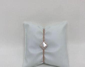 Chic clover leaf bracelet handmade