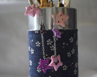 Pink and Purple Star Charm Bracelet