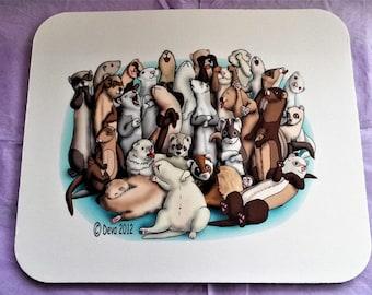 Ferret / Ferrets Bunch Mousepad