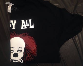 The Misfits: IT Pennywise They All Whoa Down Here Shirt