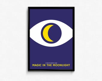 Woody Allen MAGIC in THE MOONLIGH movie poster