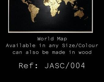 World map A3