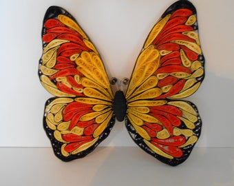 Beautiful quilled butterfly