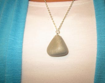 Tumbled Rock Necklace - Gray