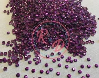 Wholesale Korean Purple Hotfix 4mm RhineSTUDS