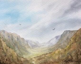 View through hills