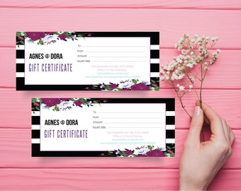 Agnes and Dora Gift Certificate, Gift Certificate Agnes and Dora, Custom Agnes And Dora, Digital Agnes and Dora, Printable File