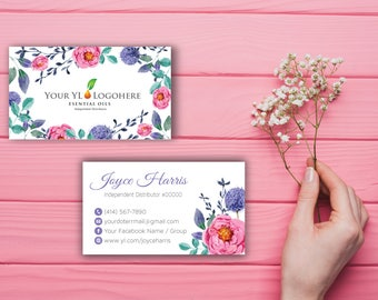 YL Essential Oils Business Card, Custom YL Business Card, Floral Business Card, Custom Business Card, Printable Business Card YL11