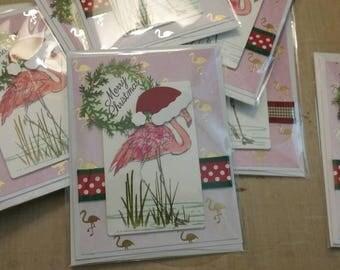 Flamingo Christmas Card