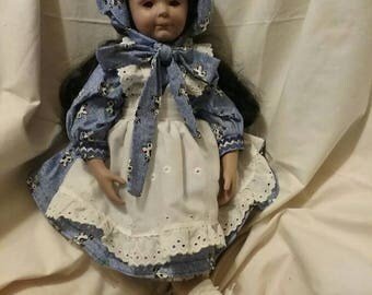 """hand made very sweet COUNTRY GIRL DOLL 18"""""""