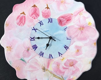 Clock. Hand painted clock