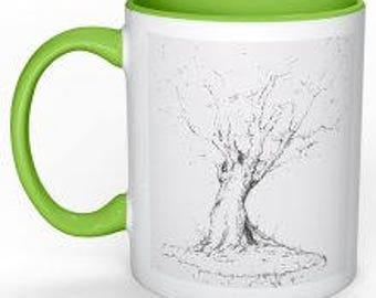 Tree with Roots Coffee Mug