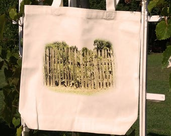 Cream Tote with Garden Fence
