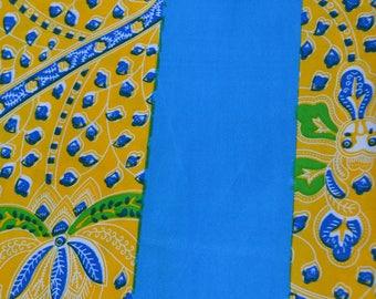 African Print/ Ankara/ 6 Yards/ Blue and Yellow