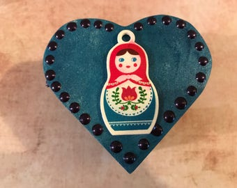 Russian Doll Heart Trinket Box