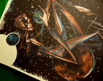 PRINT : Ziggy Stardust/ David Bowie (A5 format)