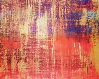 Original Abstract Painting Large Acrylic