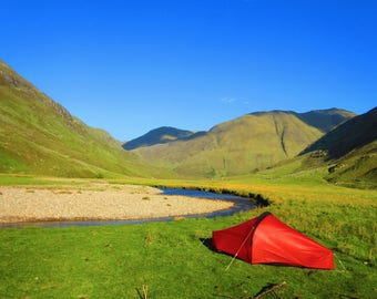 Wild Camping, Glen Affric, A6 Greetings Card